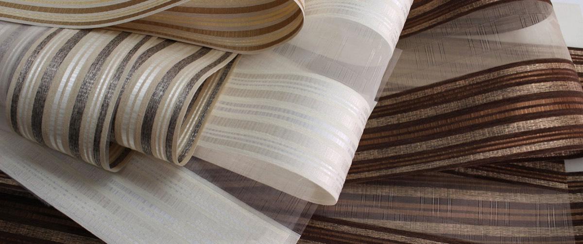 Zebra Blinds - Raw Silk Collection