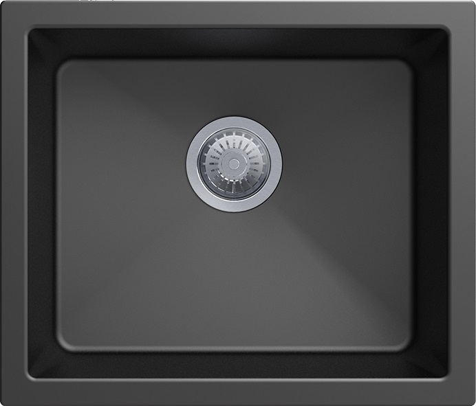 Carysil Granite Single Bowl Kitchen Sink 533x457
