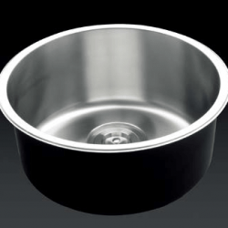 View Photo: Stainless Steel Round Single Bowl Kitchen Sink, Accessories D420x180