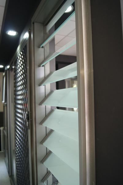 Aluminium Glass Louvre Windows - Alexandria Showroom