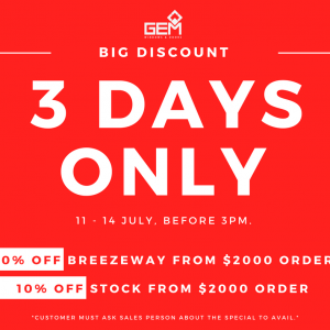 View Photo: Big Discount on Breezeway and Stock Products!