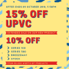 EXTENDED UPVC SALE! 15% OFF on our new products.