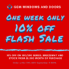 One Week Only! 10% OFF FLASH SALE!