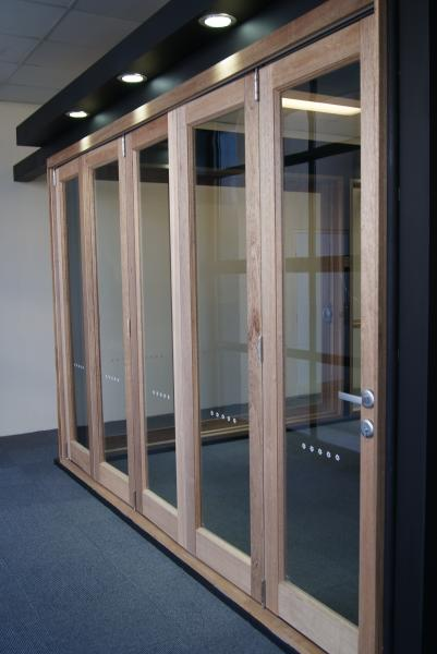 View Photo: Timber Bi Fold Doors - Castle Hill Showroom