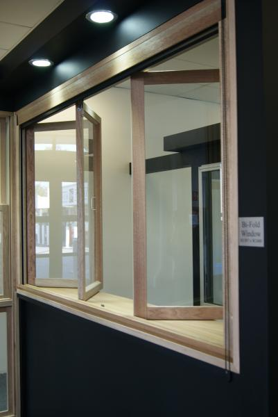 View Photo: Timber Bi Fold Window - Castle Hill Showroom