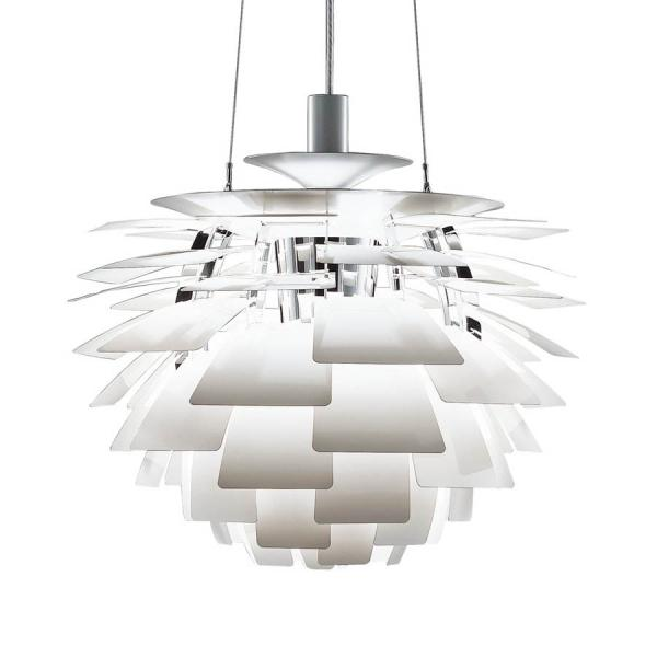 View Photo: Replica Artichoke Pendant Light by Poul Henningson in Aluminium or White