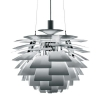 Replica Artichoke Pendant Light by Poul Henningson in Aluminium or White