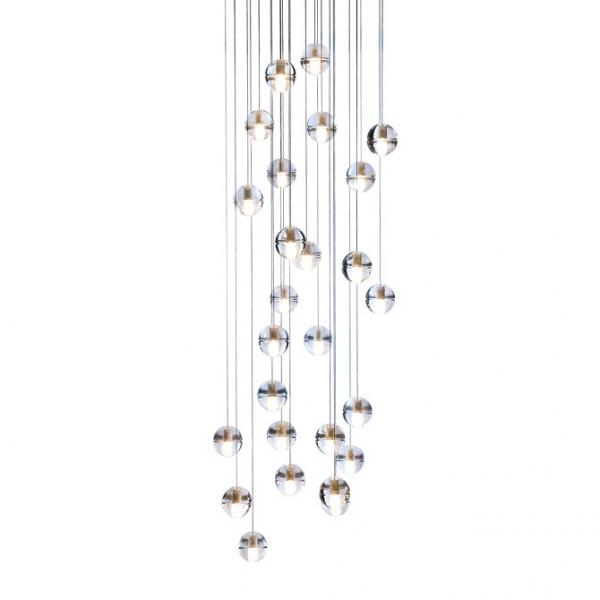 View Photo: Replica Bocci LED Pendant Light 14.26 Clear Crystal