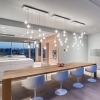 Replica Bocci LED Pendant Light 14.26 Clear Crystal Dining Room