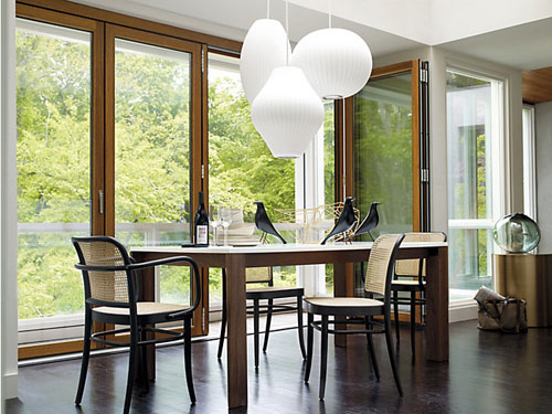 View Photo: Replica George Nelson Bubble Lamp Ball Pendant Light White 50cm in Dining Room
