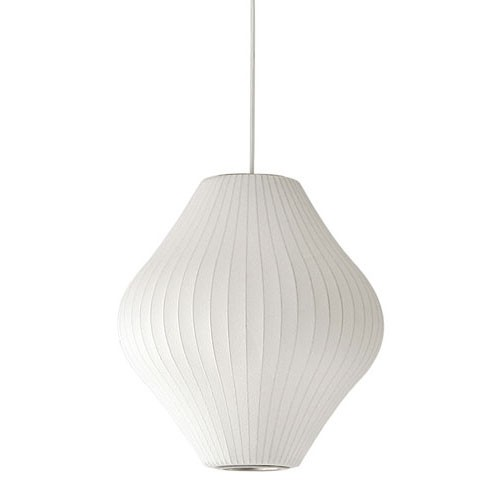 Replica George Nelson Bubble Lamp Pearl Pendant Light White 40cm