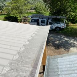View Photo: Grayson's ScrewTight Full-Metal gutter guard on corrugated roofing in Victorian bush.
