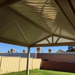 View Photo: A gable over looking the lawn - Great Aussie Patios