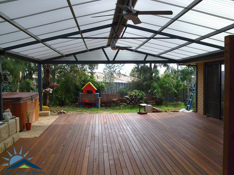View Photo: All polycarbonate Gable patio - Great Aussie Patios