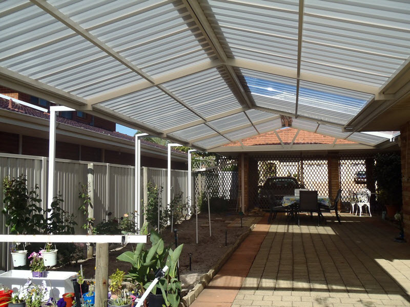 View Photo: All polycarbonate Gable patio with post extensions - Great Aussie Patios