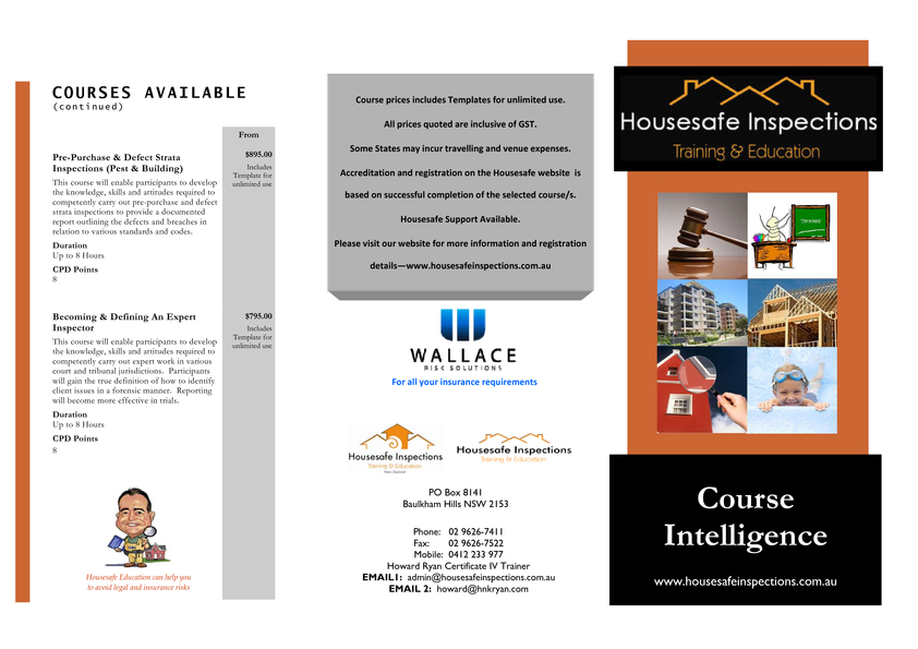 Browse Brochure: HousesafeTraining