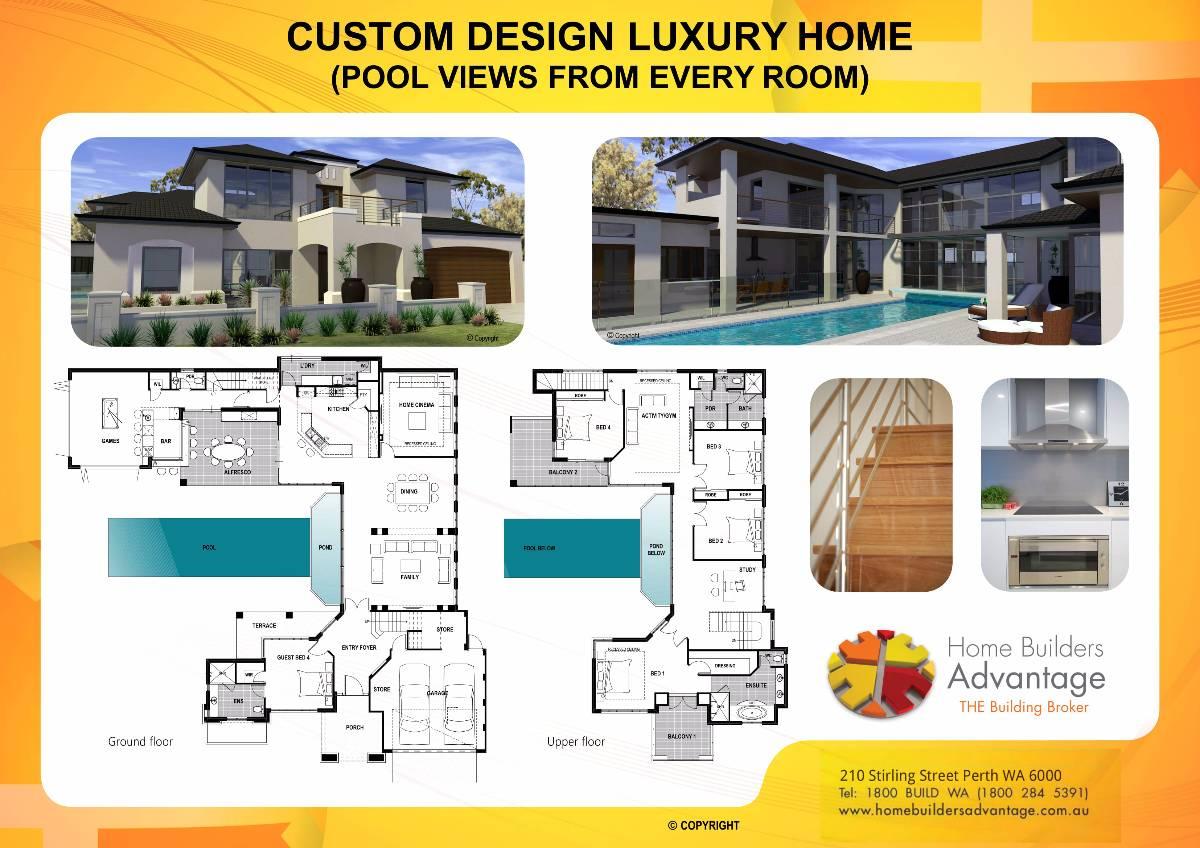 Luxury Home Plans Custom Design Luxury Custom Home Plans ...