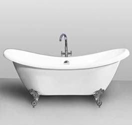 Appealing Retro Style Crawfood Bathtub Photo Home Design