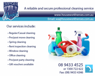 Housework Heroes Services