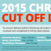 2015 Christmas Cut off dates