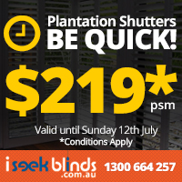 View Photo: Be Quick - Plantation Shutter Sale until 12th July