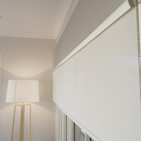 View Photo: Double Roller Blinds with Anodised Aluminium Pelmet