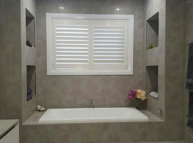 View Photo: Express Plantation Shutter 'White' - Bathroom