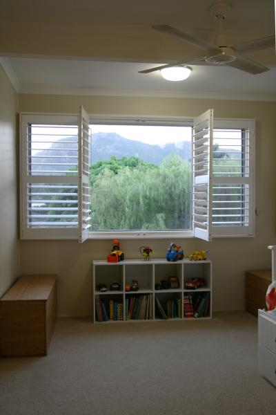 View Photo: Express Plantation Shutter 'White' - Bedroom