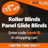 iseek 15% off Custom made Blinds