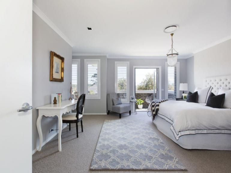 View Photo: Plantation Shutters Basswood 'Bright White' - Bedroom