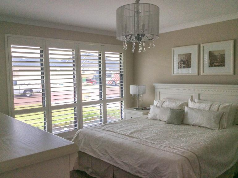 View Photo: Plantation Shutters Basswood 'Silk White' - Bedroom