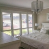 Plantation Shutters Basswood 'Silk White' - Bedroom