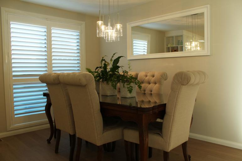 Plantation Shutters - Dining Room