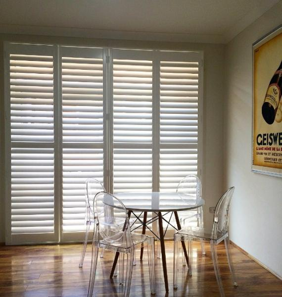 Plantation Shutters - Kitchen dining area