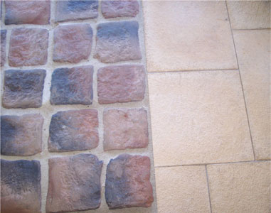 cobblestone and terrace stone paving photo innovative outdoor
