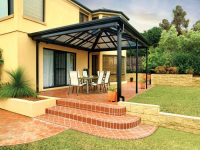 Large Louvred Sun Roof. View Photo: Large Patio Shade Abutted To House ...