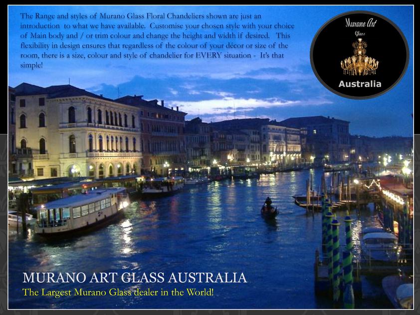 View Brochure: Murano Art Glass Australia Flower Chandeliers