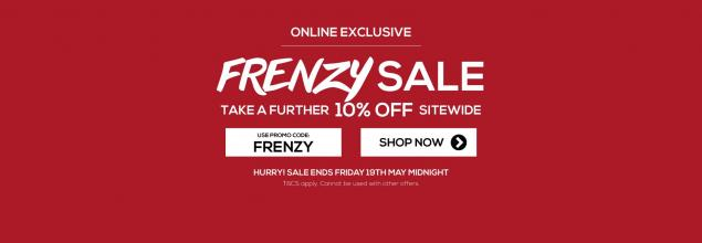 Read Article: Frenzy Sale - EXTRA 10% OFF Sitewide