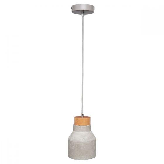 View Photo: Brilliant Lighting Imogen Concrete & Timber Pendant Light