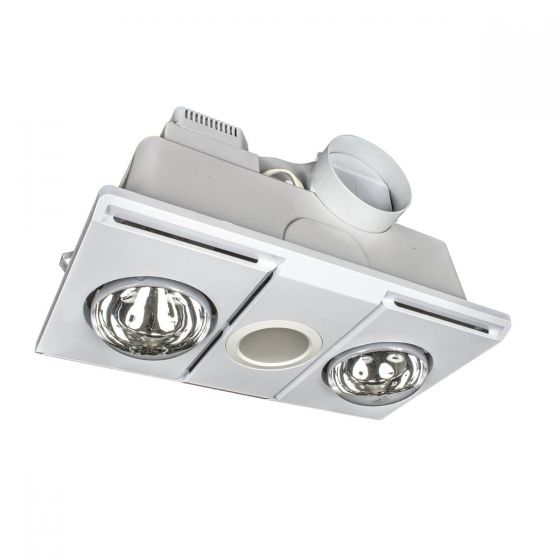 Brilliant Lighting Supernova 2 Bathroom LED 3-In-1 Heat Light Exhaust Fan