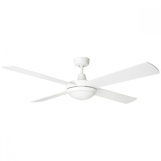 Brilliant Lighting Tempest 52 Timber Blade Ceiling Fan & 24W LED Light