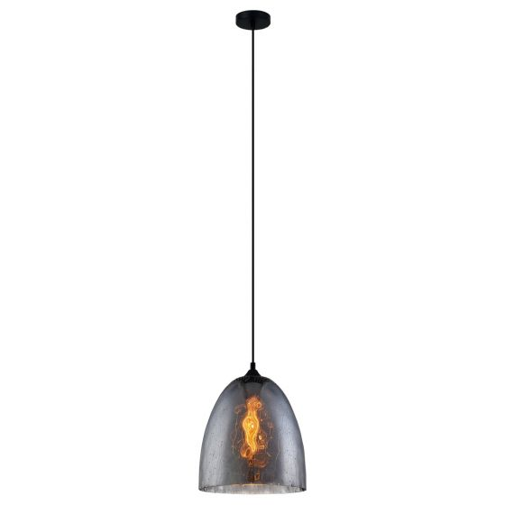 View Photo: CLA Lighting Chuva Dome Glass Smoked Pendant Light