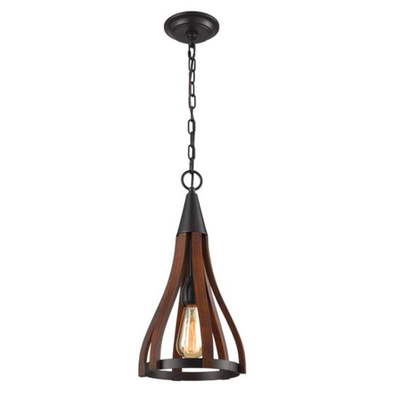 View Photo: CLA Lighting Khaleesi Iron and Wood Pendant Light