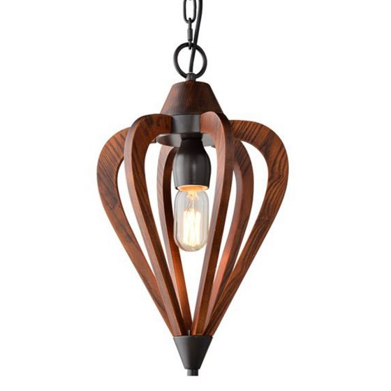 View Photo: CLA Lighting Senorita Wooden Pendant light -Small