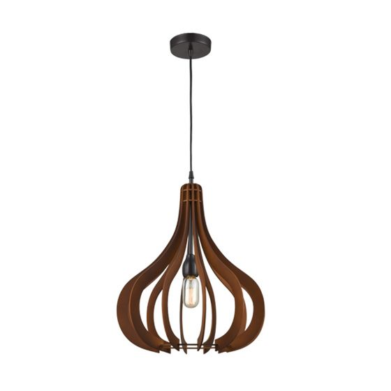 View Photo: CLA Lighting Stark Wood Small Onion Pendant