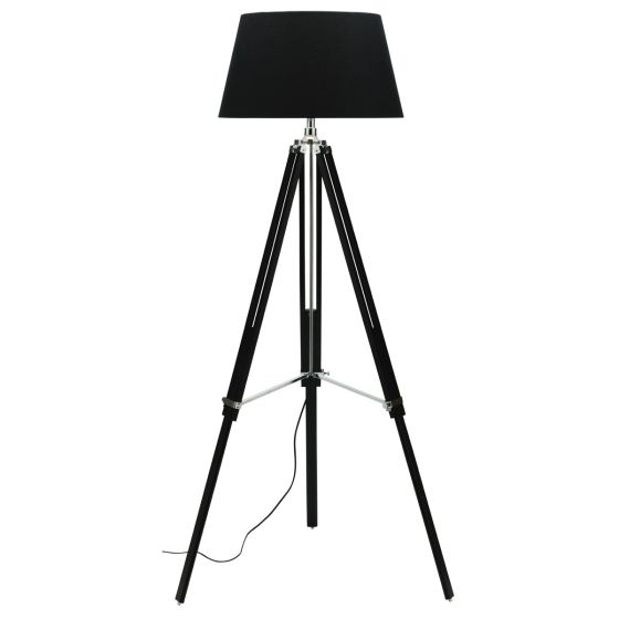 Cougar Lighting Idaho Black and Chrome Floor Lamp
