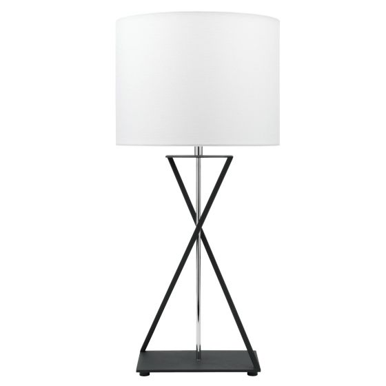 View Photo: Cougar Lighting Karl Black and Chrome Finish Table Lamp