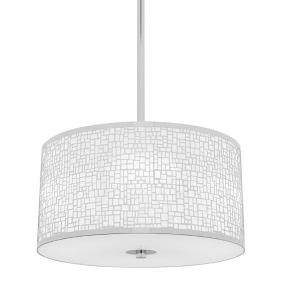 View Photo: Cougar Lighting Ritz Chrome & Gloss Opal 3 Light Pendant
