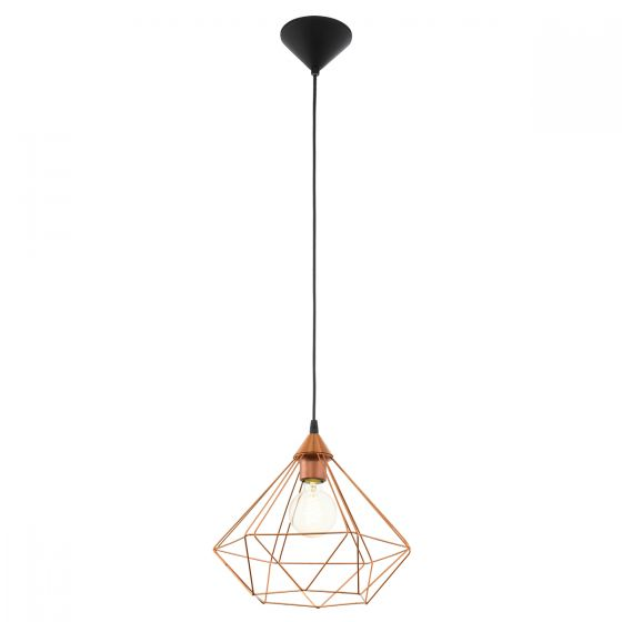Eglo Tarbes Copper Steel Cage Pendant Light