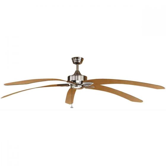 View Photo: Fanimation Windpointe Extra Large Ceiling Fan Pewter with Long Curved Blades